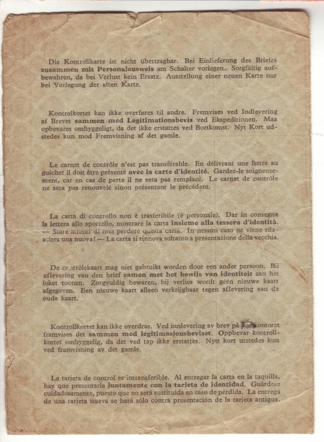 Lettres recommandées des STO ne sont plus admises par la censure de Francfort/M (e) (suite) 3002410