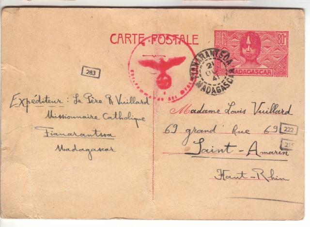 Etiquette indiquant la marche à suivre pour les correspondances familliales entre le Reich et un pays ennemi.  4001810