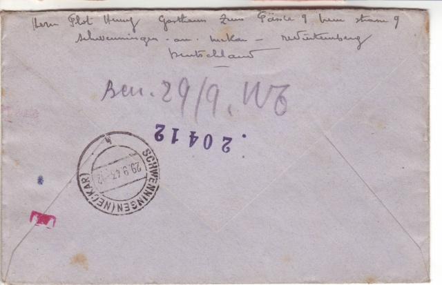 Lettres recommandées des STO ne sont plus admises par la censure de Francfort/M (e) (suite) 5001610