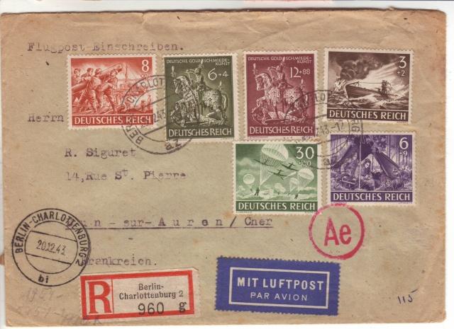 Papillon de retour pour lettres recommandées des travailleurs étrangers utilisé par erreur sur courrier civil 6001610