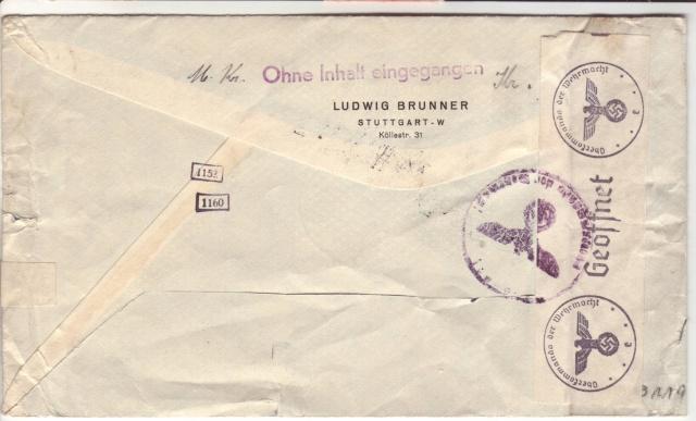 Enveloppes sans contenu examinées par L'ABP e 6001810