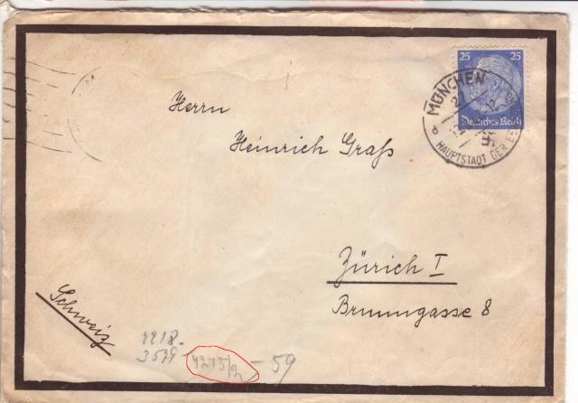 Papillon indiquant le prélèvement d'un contenu interdit par le décret des communication du 2.4.1940 7001010
