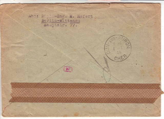 Papillon de retour pour lettres recommandées des travailleurs étrangers utilisé par erreur sur courrier civil 7001210