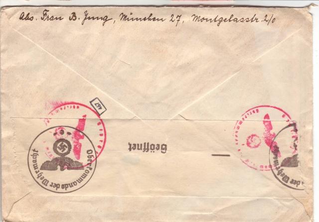 Papillon indiquant le prélèvement d'un contenu interdit par le décret des communication du 2.4.1940 8000910