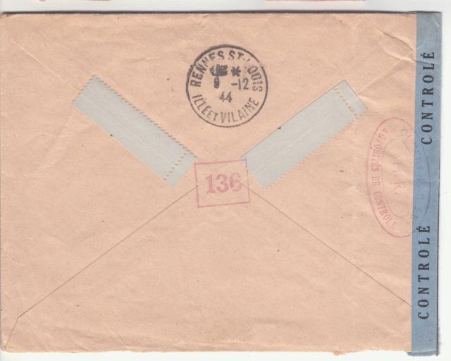 1944 une lettre contrôlée par la censure _1003310