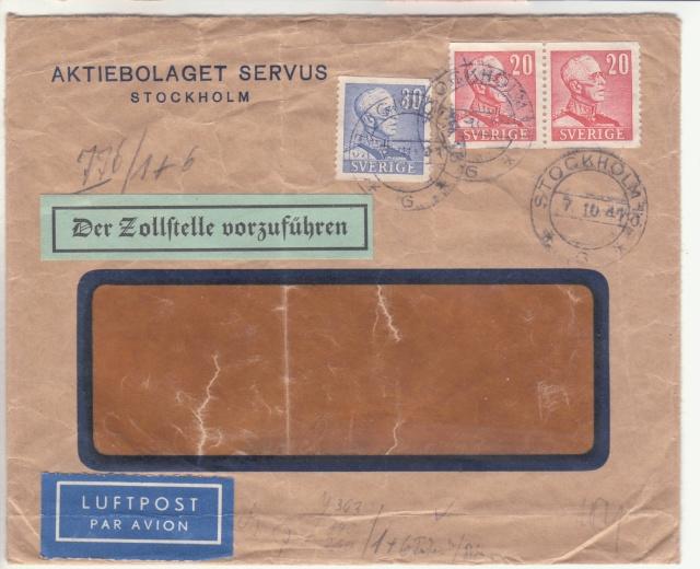"""Etiquettes vertes """"à présenter à la douane"""" sur courrier vers le Reich. _1003410"""