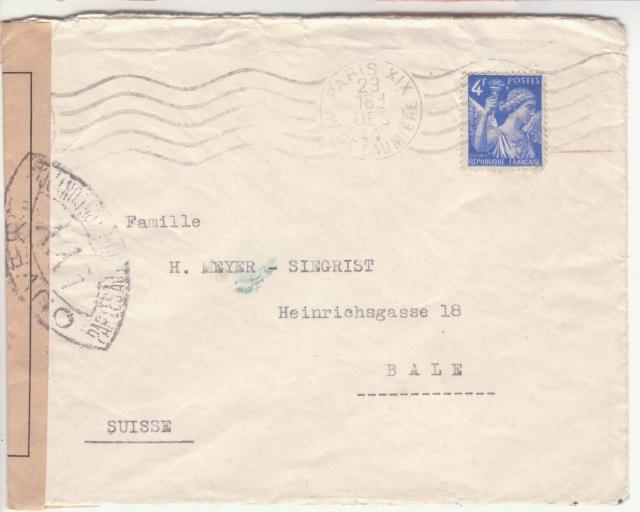 Trace de contrôle chimique sur entiers postaux. _1100010
