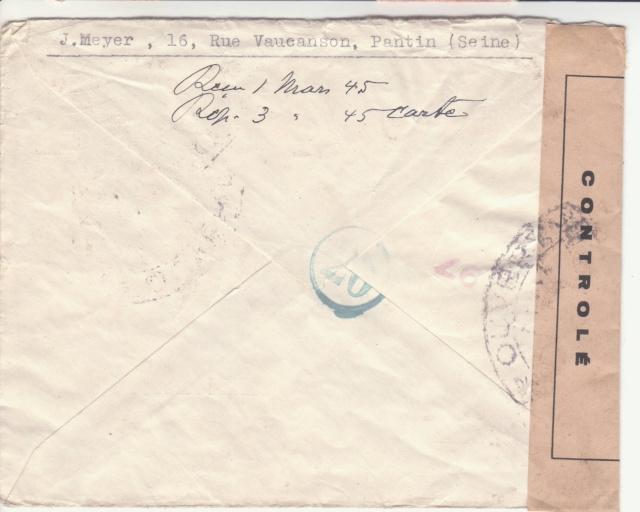 Trace de contrôle chimique sur entiers postaux. _1200010