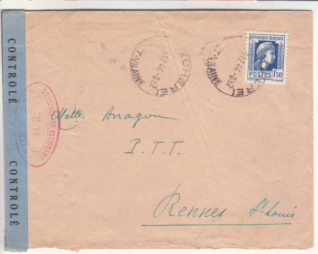 1944 une lettre contrôlée par la censure _2002110