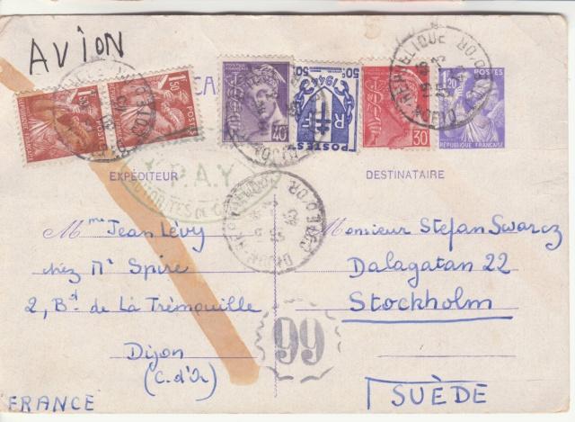 Trace de contrôle chimique sur entiers postaux. _5001610