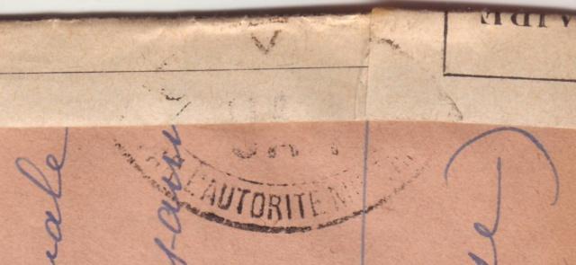 Censure UA 1 sur lettre de Groslejac pour Paris redirigée  sur Vichy en Juillet 1940. Ua_110