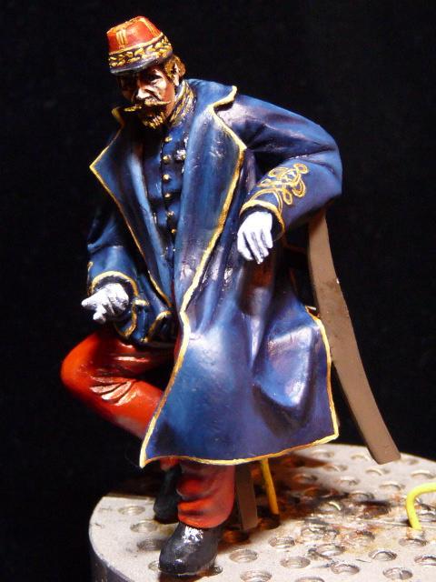 Napoléon III et Bismarck à Donchery (Peinture) par BONO (FINI) P1060431