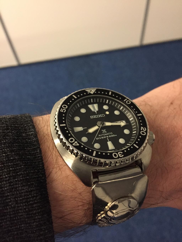 Nouveau Bracelet pour ma Seiko Turtle Img_5713