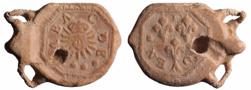 """Les plombs dit en """"aumonière""""  probablement avant 1703 D268310"""