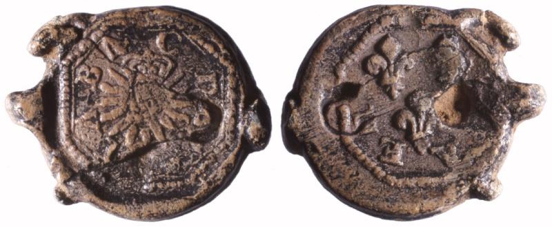 """Les plombs dit en """"aumonière""""  probablement avant 1703 D81710"""