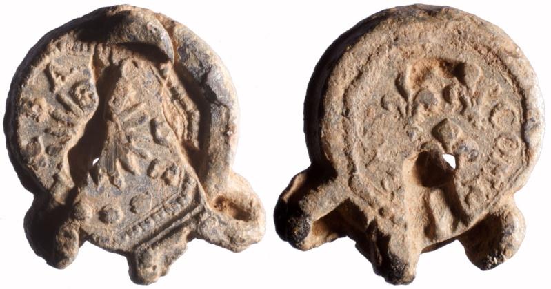 """Les plombs dit en """"aumonière""""  probablement avant 1703 D96010"""