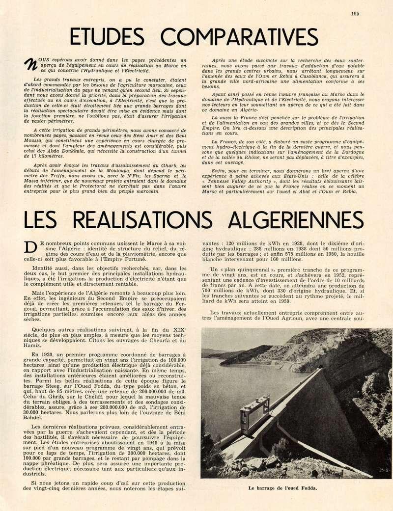L'Hydraulique et l'Electricité au MAROC. - Page 9 11-19510
