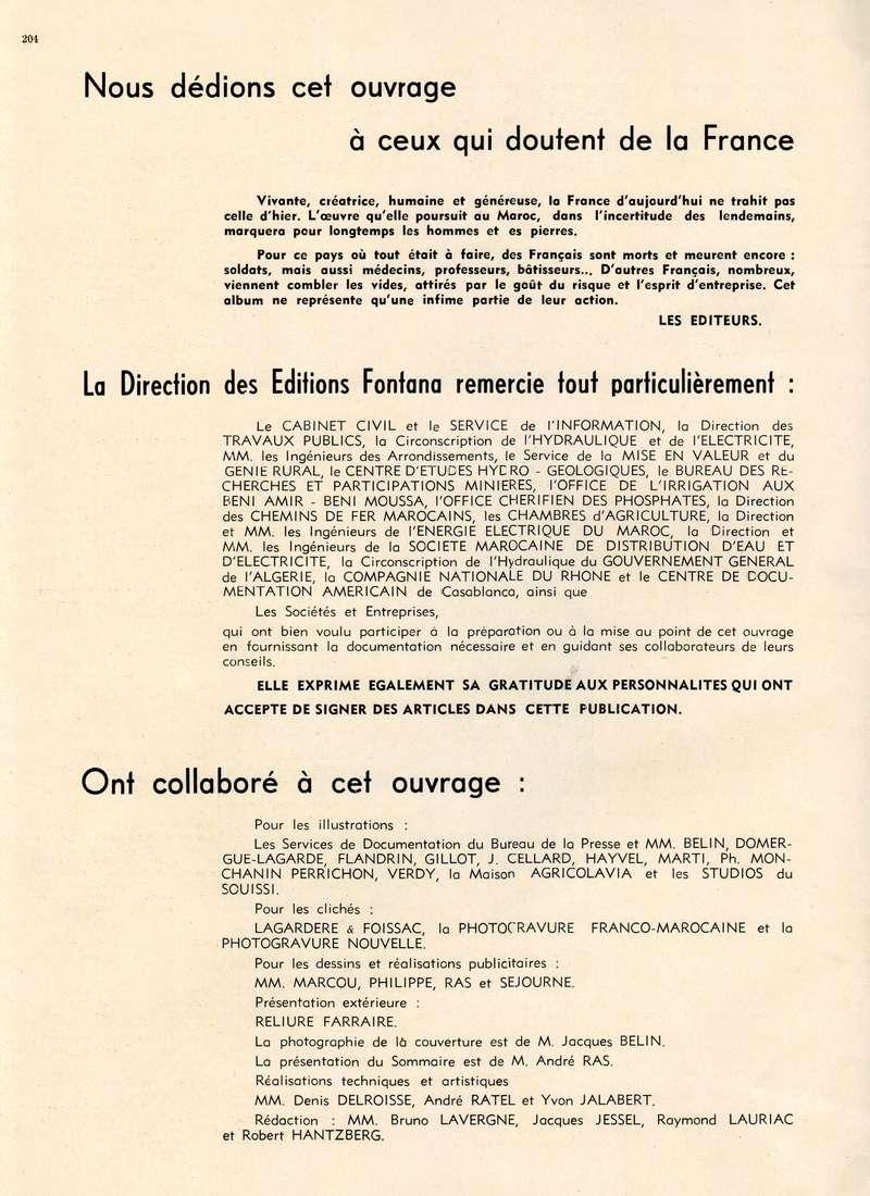 L'Hydraulique et l'Electricité au MAROC. 20-20412