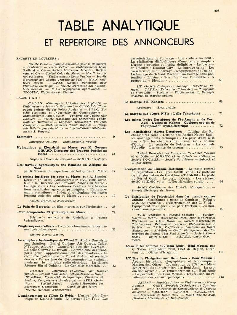 L'Hydraulique et l'Electricité au MAROC. 21-20512