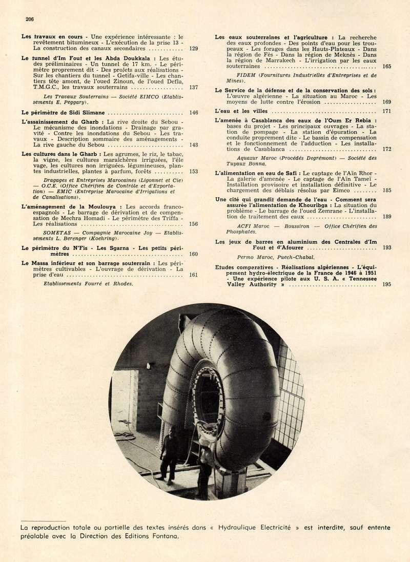 L'Hydraulique et l'Electricité au MAROC. 22-20611
