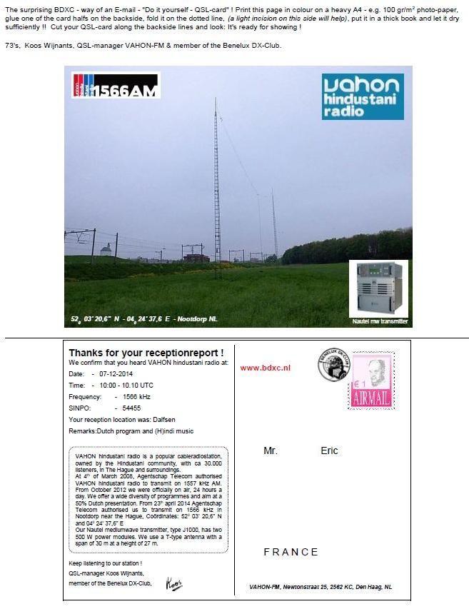 eQSL de VAHON Radio Vahon_10