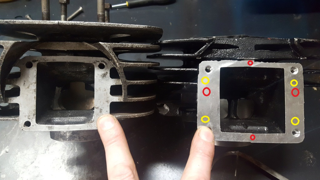 Adaptation cylindre Chinois 175 (18L) sur bas moteur 125 2A8 20210111