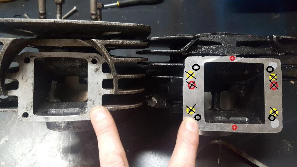 Adaptation cylindre Chinois 175 (18L) sur bas moteur 125 2A8 20210112