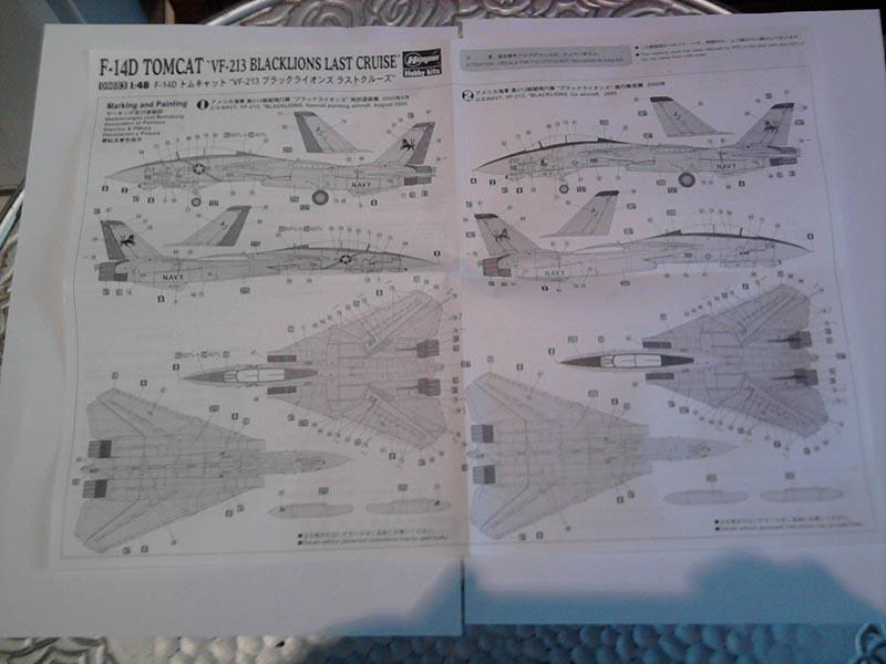 F-14D Tomcat 'Blacklions Last Cruise' / Hasegawa, 1:48 04_13