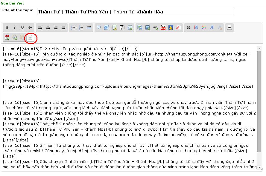 Hướng dẫn loại bỏ lỗi text khi viết bài mới trên diễn đàn rao vặt 210