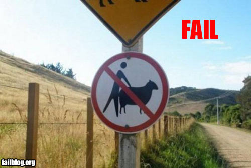 There's your sign ... Fail-o10