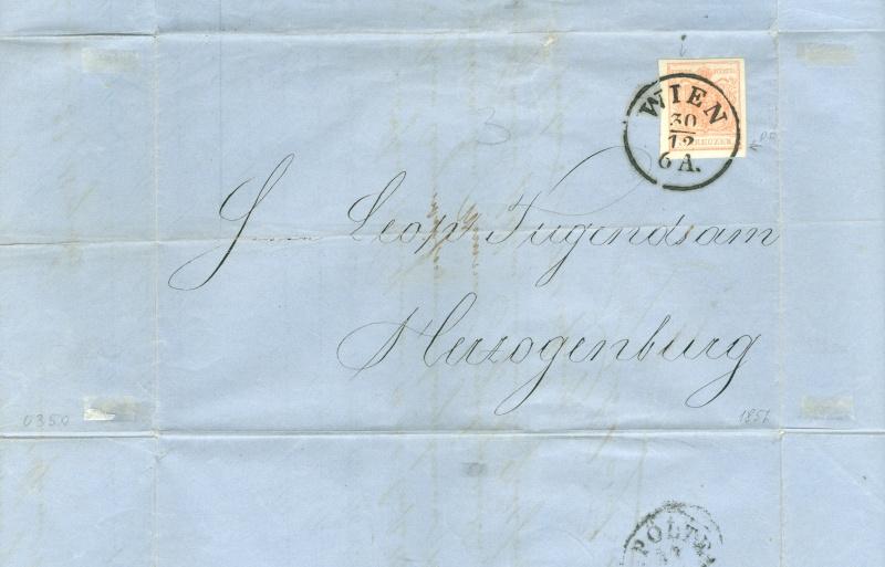Die erste Österreichische Ausgabe 1850 - Seite 6 1857_w10