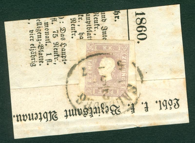 DIE ZEITUNGSMARKEN AUSGABE 1858 1858_z12