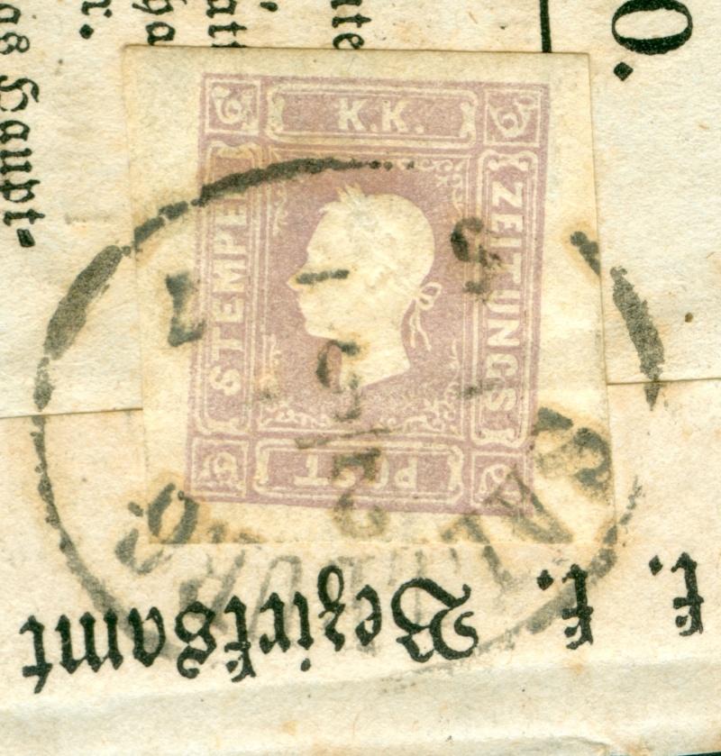 DIE ZEITUNGSMARKEN AUSGABE 1858 1858_z13
