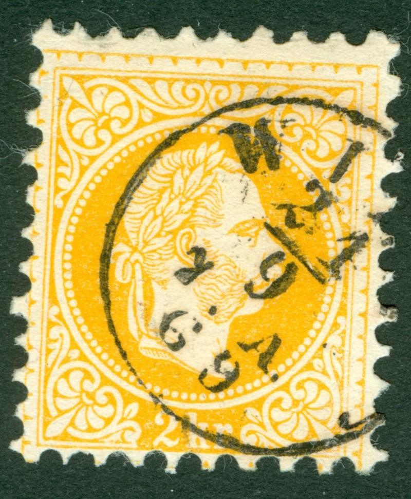 Fingerhutstempel auf Freimarkenausgabe 1867 1867_216