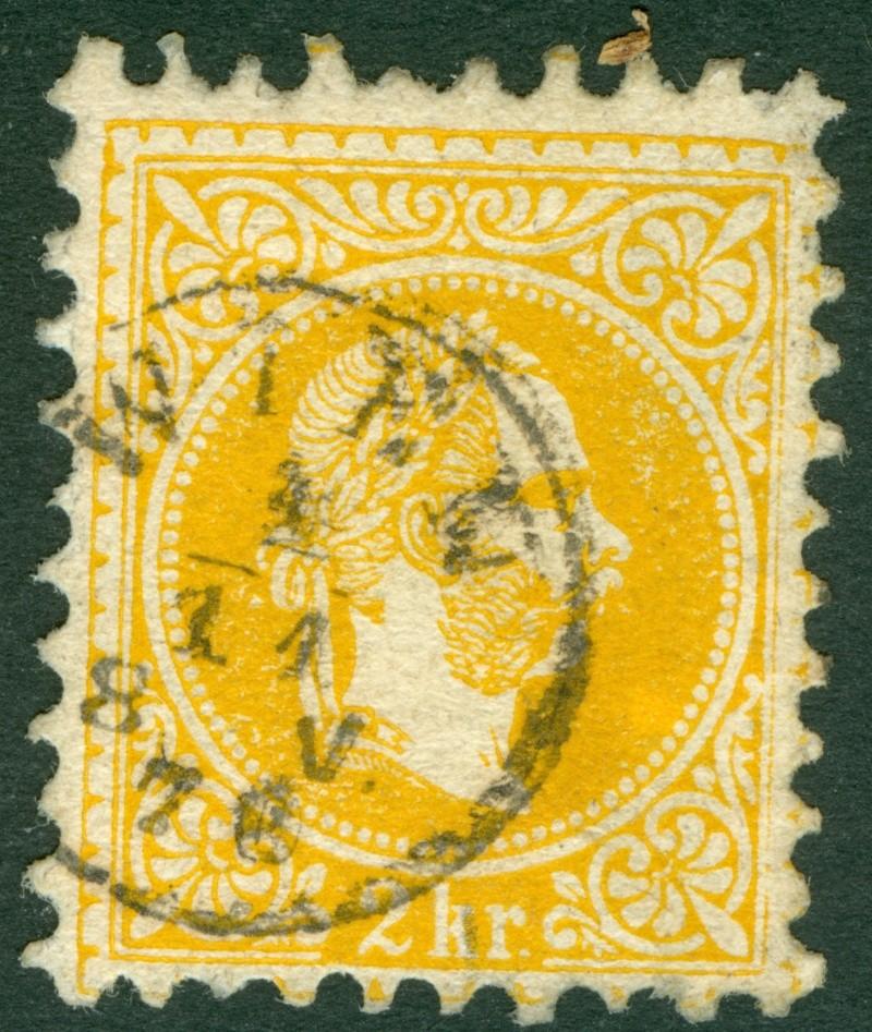 Fingerhutstempel auf Freimarkenausgabe 1867 1867_217