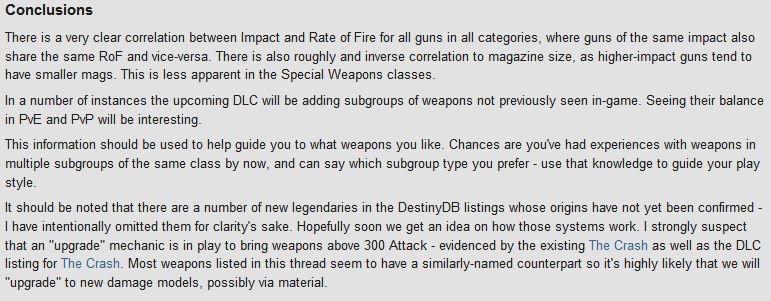 Destiny: New DLC Weapon Comparison 1110