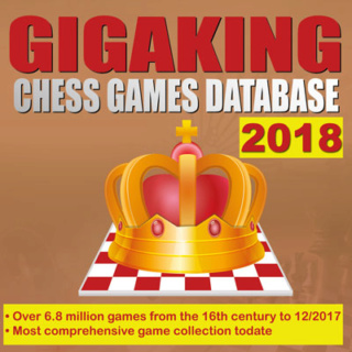 GigaKing 2018 Database with over 6,800,000 games from the 16th century to 2017 Gigaki10