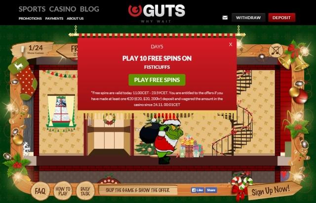 Guts Casino Christmas Calendar 5th December 2014 Guts_c11
