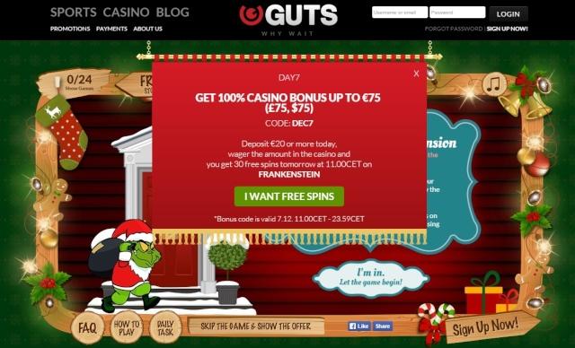Guts Casino Christmas Calendar 7th December 2014 Guts_c13