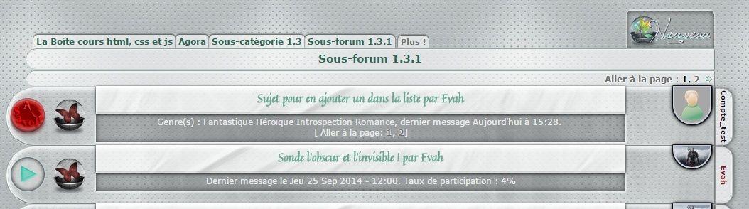 Les mises à jour du forum Captur13