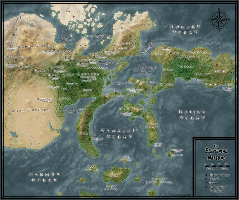 Map of the world of Naruto (Provided by CopyCatKakashi) Naruto10
