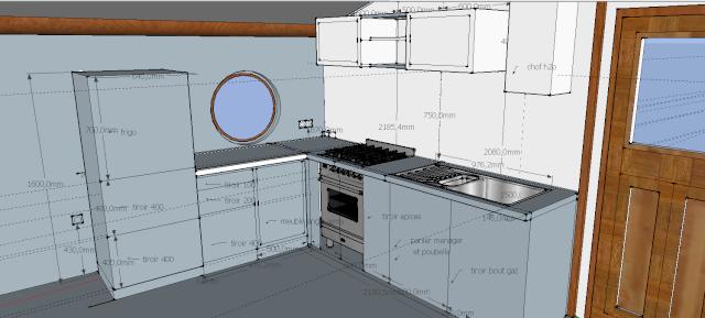 cuisine en noyer et frêne massif...de la conception à la réalisation . Captur10