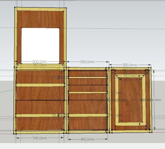 cuisine en noyer et frêne massif...de la conception à la réalisation . - Page 2 Facade10