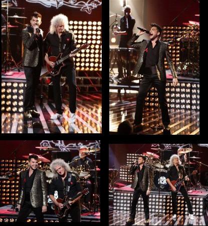 Adam Lambert News : 30th November 2014 : Adam and Queen on X Factor UK 110