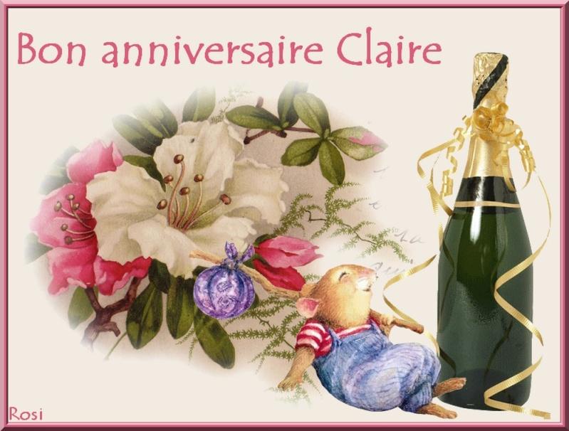 Joyeux Anniversaire Claire