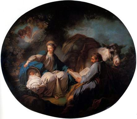 Les peintures religieuses de Jean-Honoré Fragonard Repos_10
