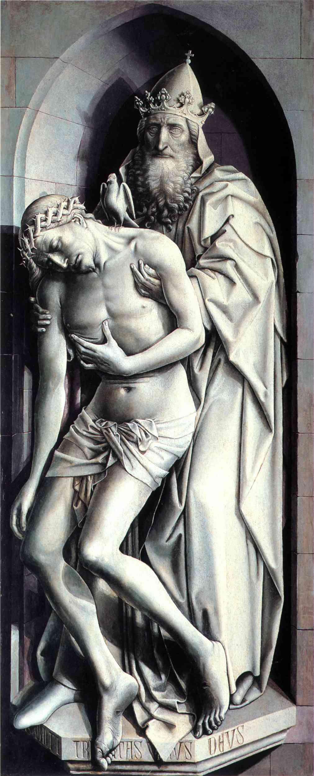 Les peintures religieuses de Robert Campin Trinit10