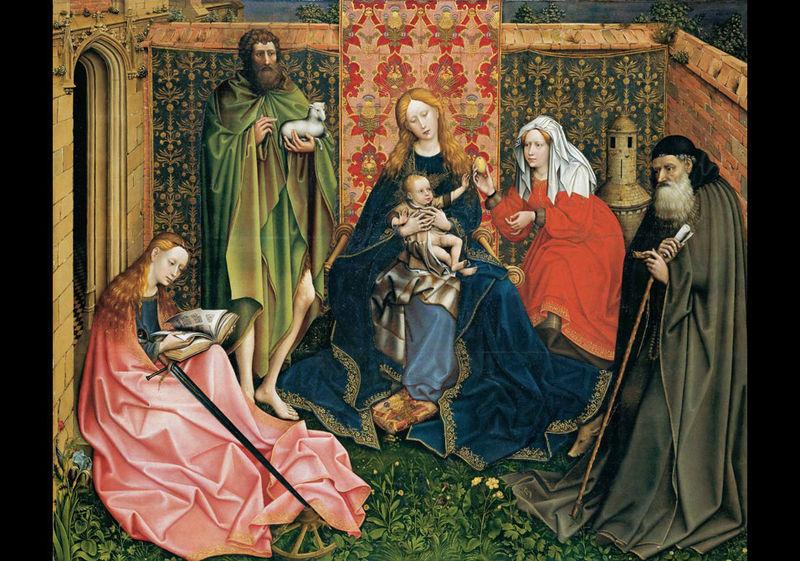 Les peintures religieuses de Robert Campin - Page 2 Vierge10