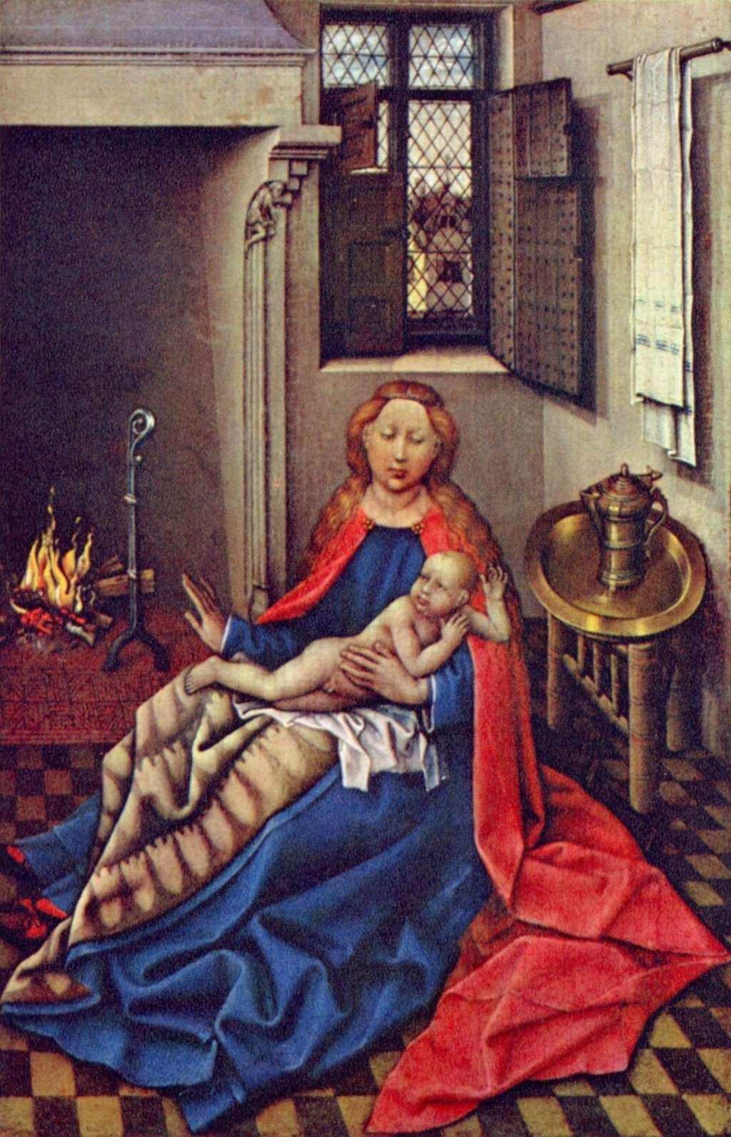 Les peintures religieuses de Robert Campin - Page 2 Vierge12