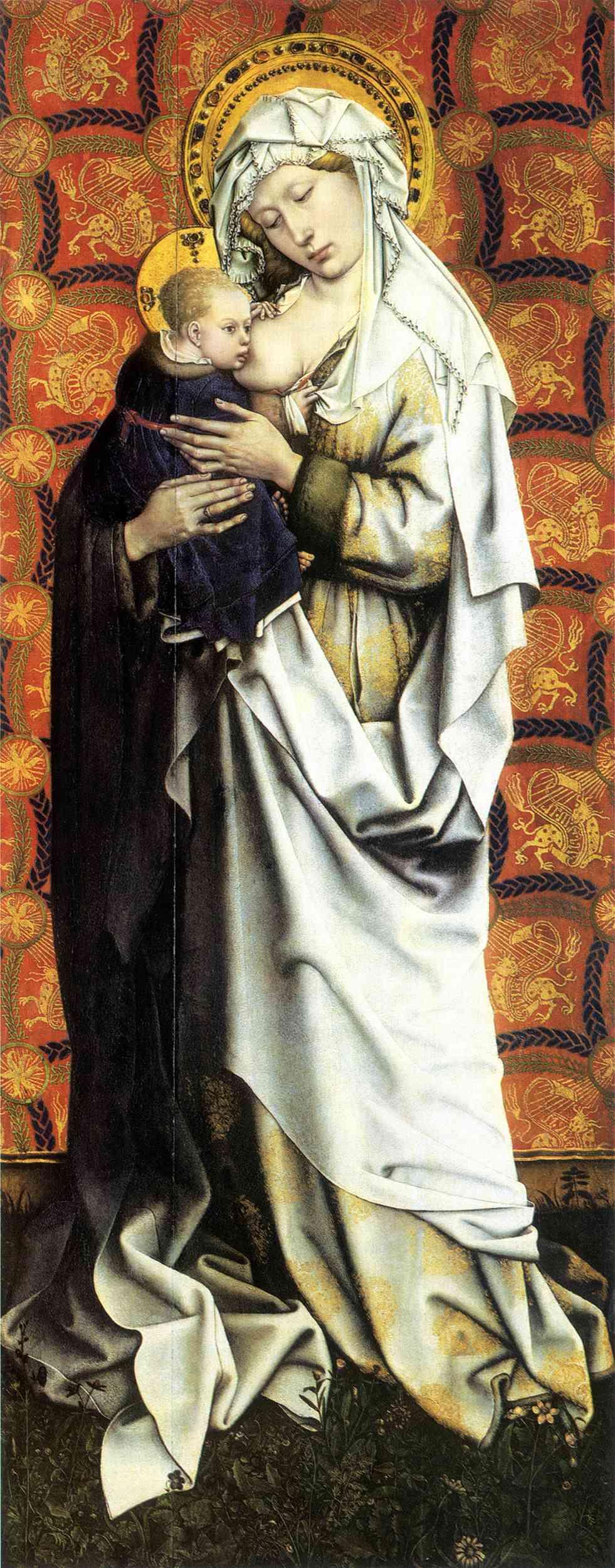 Les peintures religieuses de Robert Campin - Page 2 Vierge13